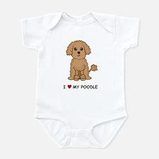 Apricot Poodle Infant Bodysuit