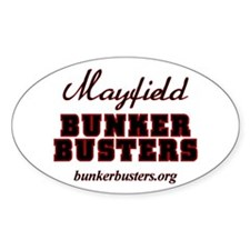 Official Bunker Busters Oval Decal