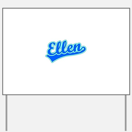 Retro Ellen (Blue) Yard Sign