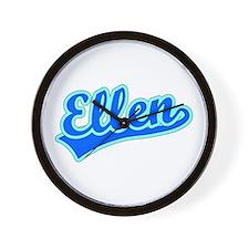 Retro Ellen (Blue) Wall Clock