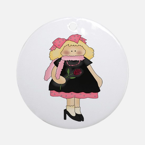 Playing Dress Up Ornament (Round)
