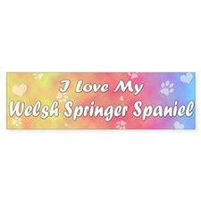 Pastel Love Welsh Springer Spaniel Bumper Bumper Sticker