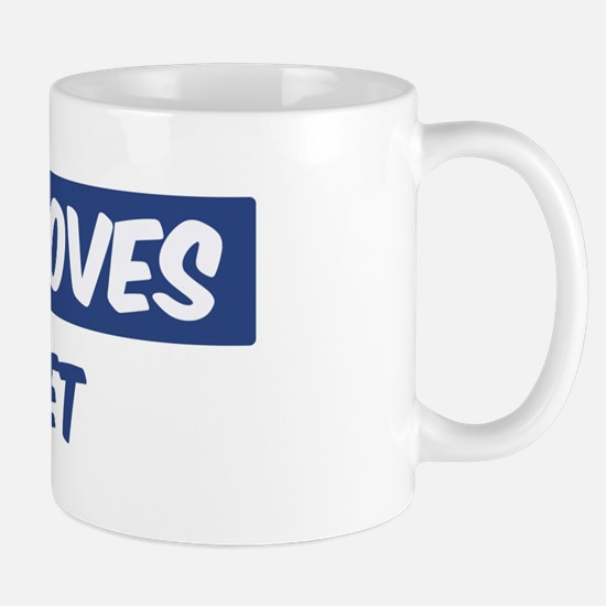 Jesus Loves Garret Mug