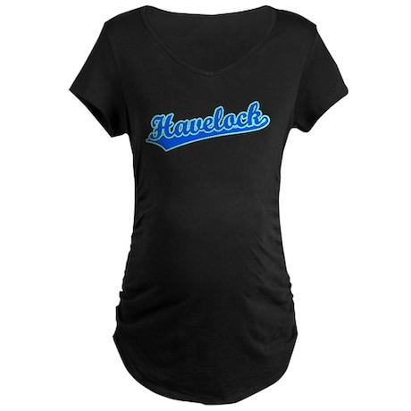 Retro Havelock (Blue) Maternity Dark T-Shirt