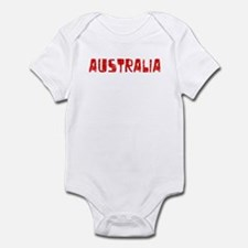 Australia Faded (Red) Infant Bodysuit