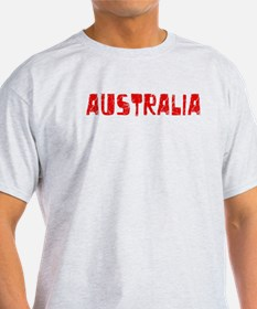 Australia Faded (Red) T-Shirt