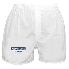 Jesus Loves Roland Boxer Shorts