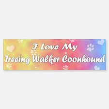 Pastel Love Treeing Walker Bumper Bumper Bumper Sticker