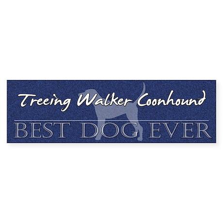 Best Dog Ever Treeing Walker Bumper Sticker