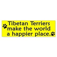 Happy Place Tibetan Terrier Bumper Bumper Sticker