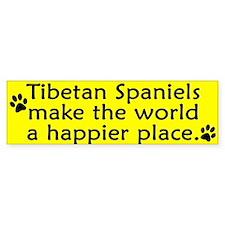 Happy Place Tibetan Spaniel Bumper Bumper Sticker