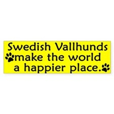 Happy Place Swedish Vallhund Bumper Bumper Sticker