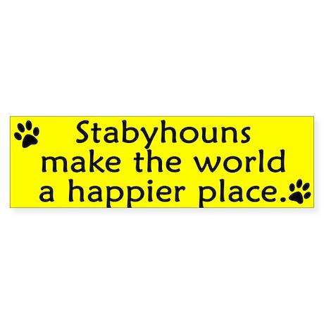 Happy Place Stabyhoun Bumper Sticker
