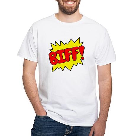 Comic 'Biff!' White T-Shirt