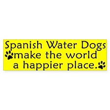 Happy Place Spanish Water Dog Bumper Bumper Sticker