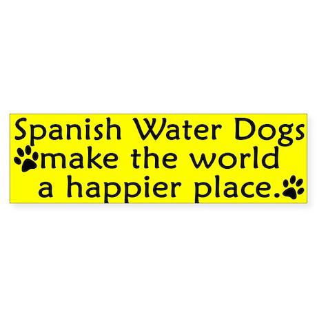 Happy Place Spanish Water Dog Bumper Sticker