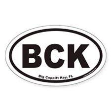 Big Coppitt Key BCK Euro Oval Decal