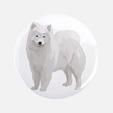 """Beautiful Samoyed 3.5"""" Button"""