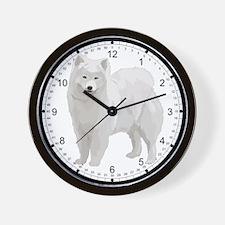 Beautiful Samoyed Wall Clock
