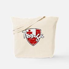 Tongan distressed flag Tote Bag
