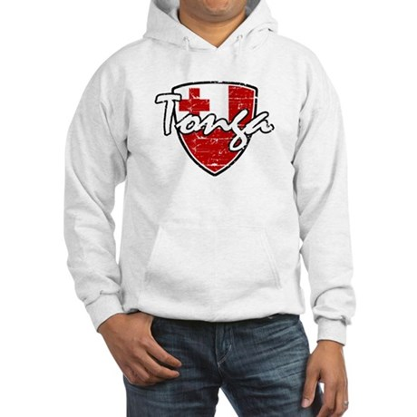 Tongan distressed flag Hooded Sweatshirt