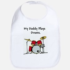 Cute My dad plays bass Bib