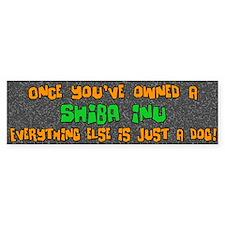 Just a Dog Shiba Inu Bumper Bumper Sticker