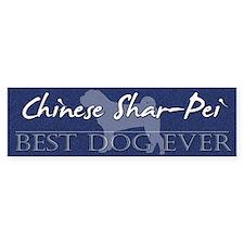 Best Dog Ever Chinese Shar-Pei Bumper Bumper Sticker