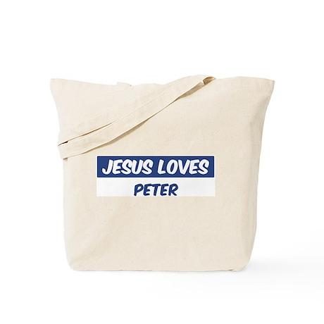 Jesus Loves Peter Tote Bag