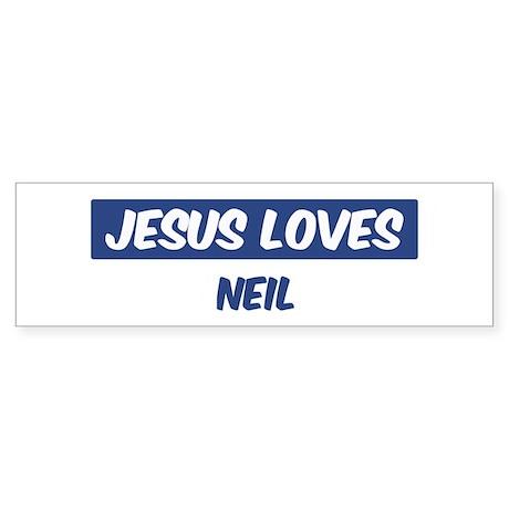 Jesus Loves Neil Bumper Sticker