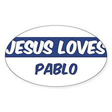 Jesus Loves Pablo Oval Decal
