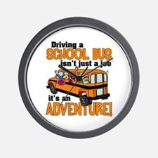 Driving a School Bus Wall Clock