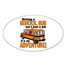 Driving a School Bus Oval Decal