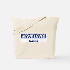 Jesus Loves Nadia Tote Bag