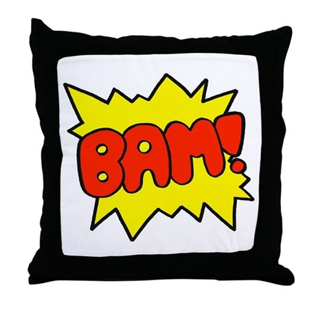 Comic 'Bam!' Throw Pillow