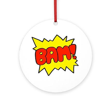 Comic 'Bam!' Ornament (Round)