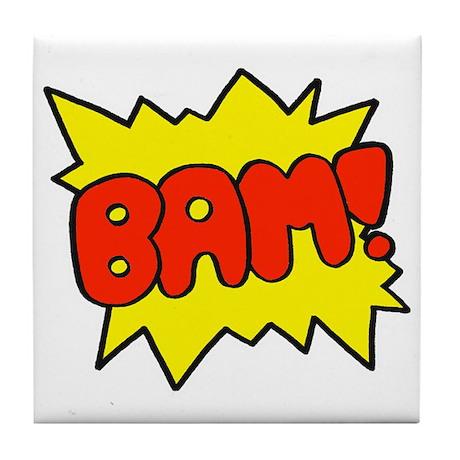 Comic 'Bam!' Tile Coaster