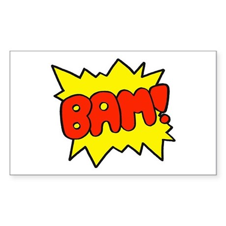Comic 'Bam!' Rectangle Sticker