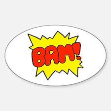 Comic 'Bam!' Oval Decal