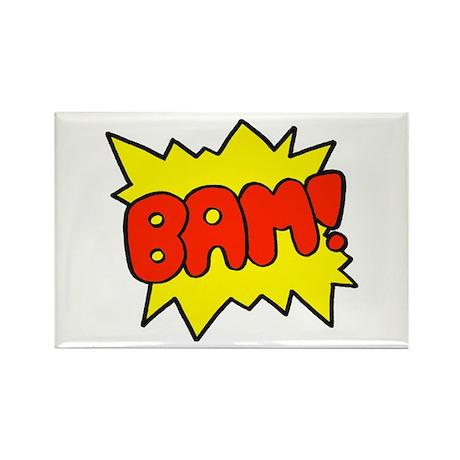Comic 'Bam!' Rectangle Magnet (10 pack)