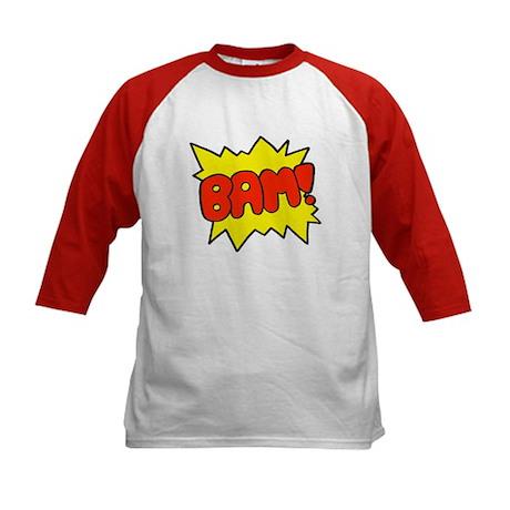 Comic 'Bam!' Kids Baseball Jersey