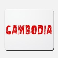 Cambodia Faded (Red) Mousepad
