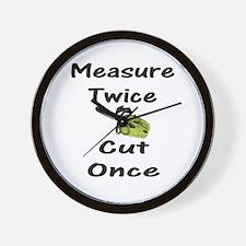 Measure Twice  Wall Clock