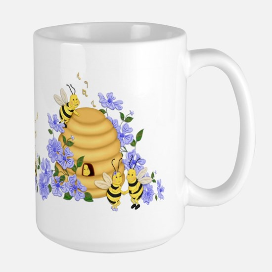 Honey Bee Dance Large Mug