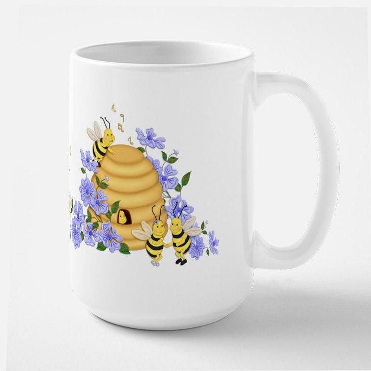Honey Bee Dance Large Mug