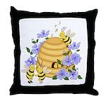 Honey Bee Dance Throw Pillow