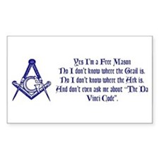 Yes, I'm a Freemason... Rectangle Decal
