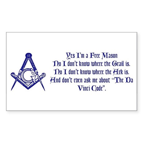 Yes, I'm a Freemason... Rectangle Sticker