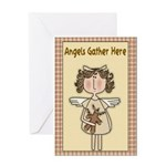 Angels Gather Greeting Card