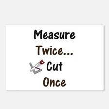 Measure Twice  Postcards (Package of 8)